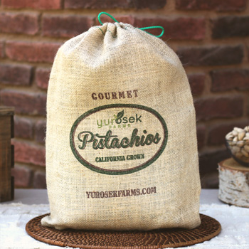 5 lb Burlap Bag Roasted & Salted Pistachios